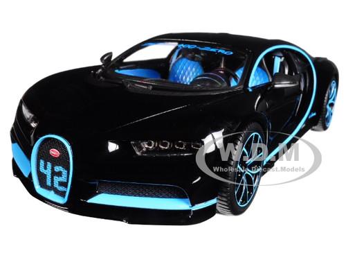 Bugatti Chiron 42 Black Limited Edition 1/18 Diecast Model Car Bburago 11040