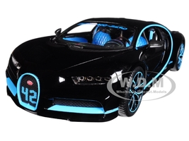 Bugatti Chiron 42 Black Limited Edition 1/18 Diecast Model Car Bburago 11040