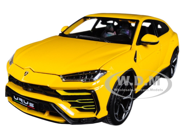 Lamborghini Urus Yellow 1/18 Diecast Model Car Bburago 11042