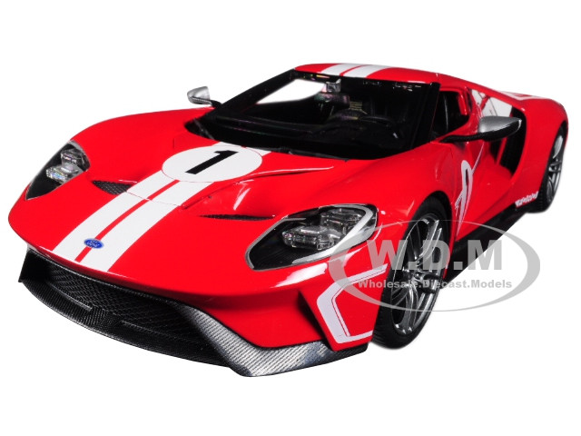 Ford Gt  Red Heritage Special Edition  Cast Model Car Maisto