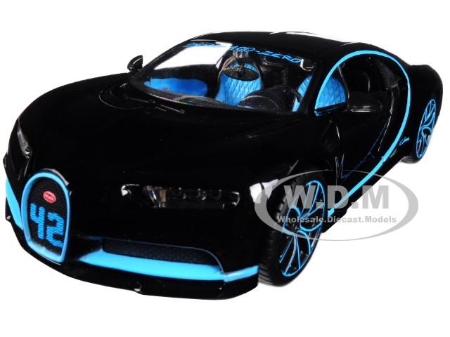Bugatti Chiron 42 Black Limited Edition 1/24 Diecast Model Car Maisto 31514