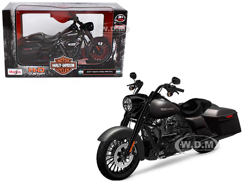 2017 Harley Davidson King Road Special Black Motorcycle Model 1/12 Maisto 32336