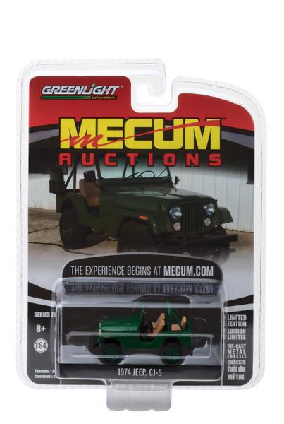 1974 Jeep CJ-5 Green Dallas 2017 Mecum Auctions Collector Series 2 1/64 Diecast Model Car Greenlight 37140 D