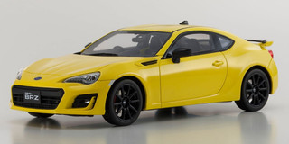 Subaru BRZ GT Yellow Limited Edition 400 pieces Worldwide 1/18 Model Car Kyosho KSR18027Y