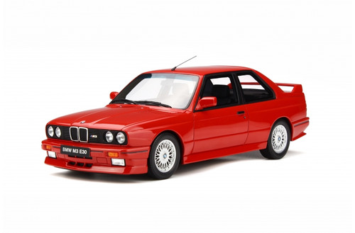 1989 BMW E30 M3 Red Limited Edition 3000 pieces Worldwide 1/18 Model Car Otto Mobile OT695