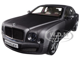 Bentley Mulsanne Speed Matte Dark Gray 1/18 Diecast Model Car Kyosho 08910 DGS