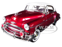 1950 Chevrolet Bel Air Burgundy White Roof 1/18 Diecast Car Model Motormax 73111