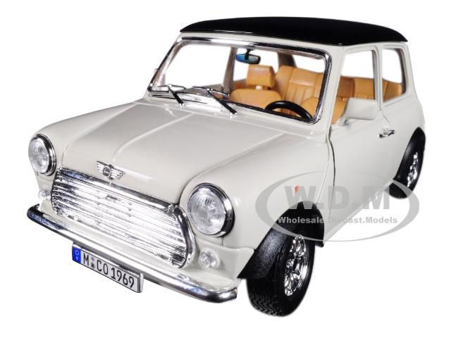 1969 mini cooper beige black top 1 18 diecast model car. Black Bedroom Furniture Sets. Home Design Ideas