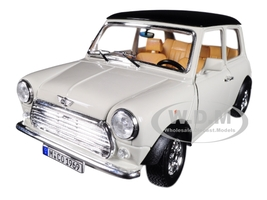 1969 Mini Cooper Beige Black Top 1/18 Diecast Model Car Bburago 12036