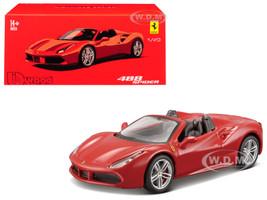 Ferrari 488 Spider Red Signature Series 1/43 Diecast Model Car Bburago 36905