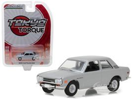 1970 Datsun 510 Silver Tokyo Torque Series 2 1/64 Diecast Model Car Greenlight 29900 B