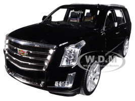 2017 Cadillac Escalade Sunroof Black 1/24 1/27 Diecast Model Car Welly 24084