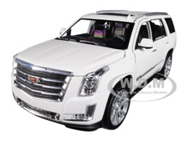 2017 Cadillac Escalade Sunroof White 1/24 1/27 Diecast Model Car Welly 24084