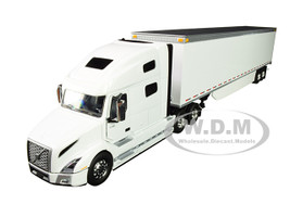 Volvo VNL 760 Sleeper Cab 53' Trailer Side Skirts White 1/50 Diecast Model First Gear 50-3394