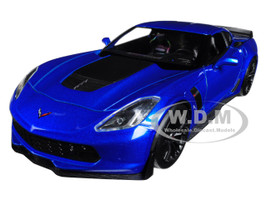 2017 Chevrolet Corvette Z06 Blue 1/24 1/27 Diecast Model Car Welly 24085