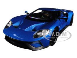 2017 Ford GT Blue 1/24 1/27 Diecast Model Car Welly 24082