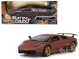 Lamborghini Murcielago LP 670-4 SV Matte Brown 1/24 Diecast Model Car Motormax 79503