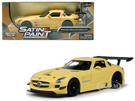 Mercedes Benz SLS AMG GT3 Matte Yellow 1/24 Diecast Car Model Motormax 79501
