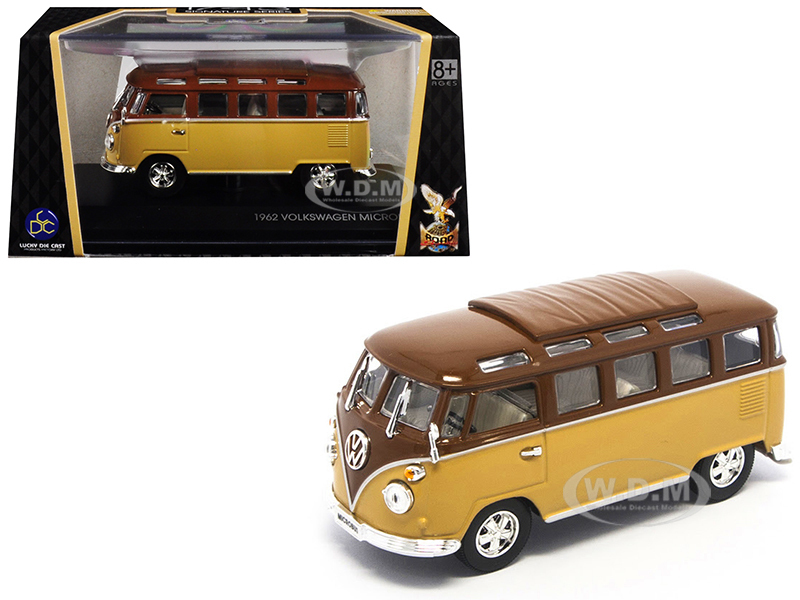 1962 Volkswagen Microbus Van Bus Brown 1/43 Diecast Model Road Signature 43209