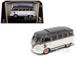 1962 Volkswagen Microbus #5 Van Bus White 1/43 Diecast Model Road Signature 43209
