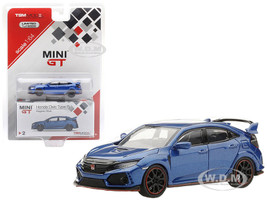 Honda Civic Type R Left-hand Drive Aegean Blue Limited Edition 6000 pieces 1/64 Diecast Model Car True Scale Miniatures MGT00002