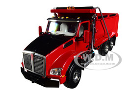 Kenworth T880 Tandem Axle Dump Truck Red 1/50 Diecast Model First Gear 50-3405