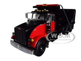 Peterbilt Model 367 Tandem Axle Dump Truck Black Red 1/50 Diecast Model First Gear 50-3407