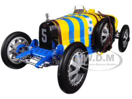 Bugatti T35 #5 National Colour Project Grand Prix Sweden Limited Edition 500 pieces Worldwide 1/18 Diecast Model Car CMC 100B011