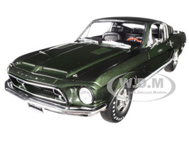 1968 Ford Mustang Shelby GT350H Dark Green Limited Edition 486 pieces Worldwide 1/18 Diecast Model Car Acme A1801825