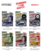 Running on Empty Series 5 Set 6 Cars 1/64 Diecast Models Greenlight 41050
