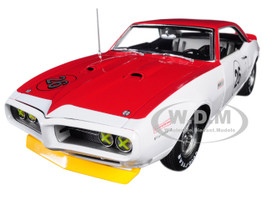 1968 Pontiac Trans Am Firebird Tribute #26 Jerry Titus White Red 1/18 Diecast Car Model Acme A1805210