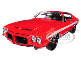 1972 Pontiac LeMans GTO Cardinal Red White Stripes Limited Edition 384 pieces Worldwide 1/18 Diecast Model Car Acme A1801210