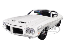 1972 Pontiac LeMans GTO Cameo White Black Stripes Limited Edition 402 pieces Worldwide 1/18 Diecast Model Car Acme A1801211