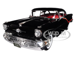 1957 Oldsmobile Super 88 Black Red Stripes Limited Edition 576 pieces Worldwide 1/18 Diecast Model Car Acme A1808004