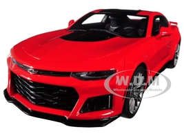 2017 Chevrolet Camaro ZL1 Coupe Red Black Stripe 1/18 Model Car GT Spirit ACME US012