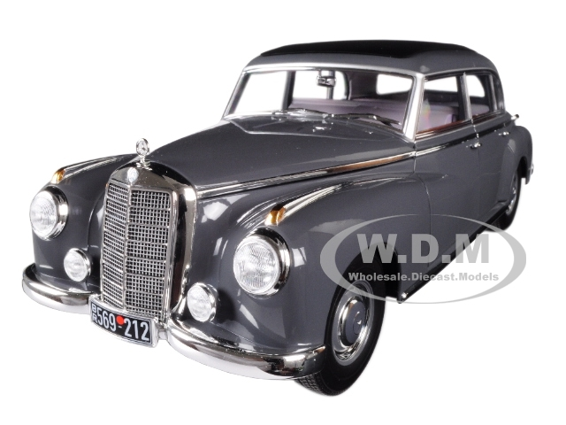 1955 Mercedes Benz 300 Dark Gray 1/18 Diecast Model Car Norev 183591
