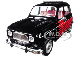 1964 Renault 4 Parisienne Black Red 1/18 Diecast Model Car Norev 185242