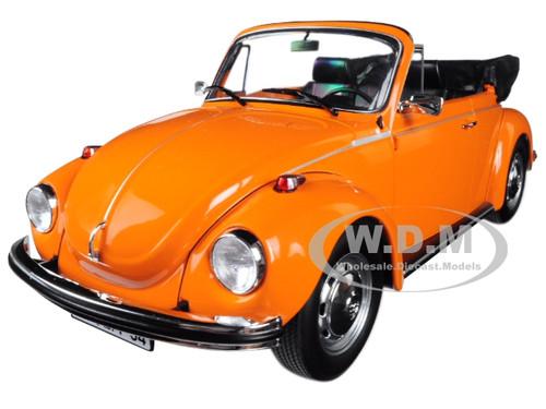 1973 Volkswagen Beetle 1303 Cabriolet Orange 1/18 Diecast Model Car Norev 188521