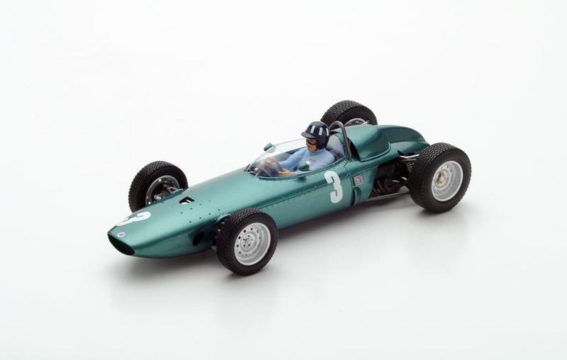 BRM P57 #3 Graham Hill Winner 1962 South African GP World Champion 1/18 Model Car Spark 18S225