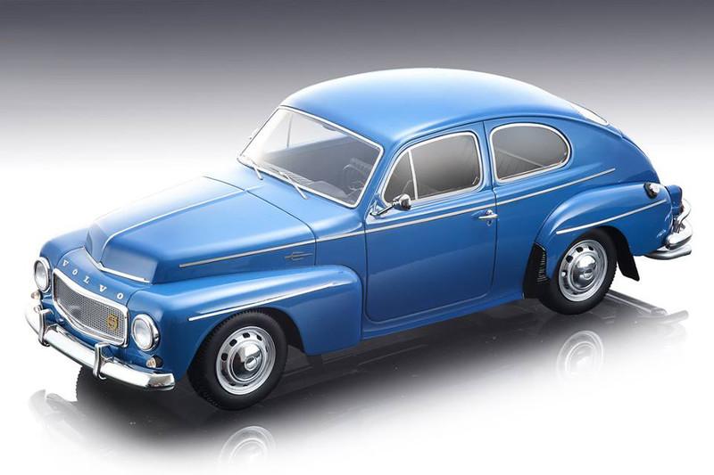 1964 Volvo PV 544 Street Version Dark Blue Mythos Series Limited Edition 70 pieces Worldwide 1/18 Model Car Tecnomodel TM18-106 E