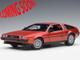 Delorean DMC 12 Metallic Red 1/18 Model Car Autoart 79918