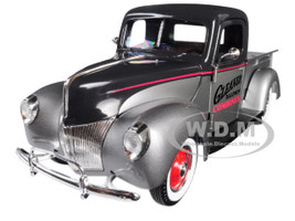 1940 Ford Gleaner Pickup Truck Silver Black Top 1/25 Diecast Model Car Speccast 64131