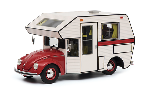 Volkswagen Kafer Motorhome Red White Camper Body 1/18 Model Car Schuco 450011200