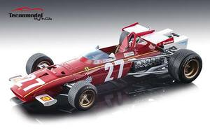 Ferrari 312B Car #27 Jacky Ickx 1970 Grand Prix Belgium Mythos Series Limited Edition 100 pieces Worldwide 1/18 Model Car Tecnomodel TM18-64 C