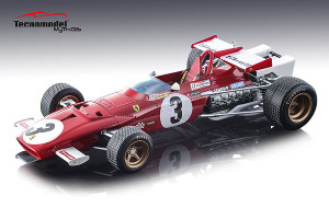 Ferrari 312B Car #3 Jacky Ickx Winner 1970 Grand Prix Mexico Mythos Series Limited Edition 100 pieces Worldwide 1/18 Model Car Tecnomodel TM18-64 D