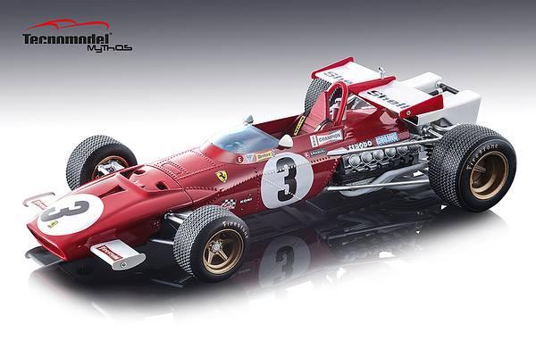 Ferrari 312B Car #3 Jacky Ickx Winner 1970 Grand Prix Mexico Mythos Series Limited Edition 100 pieces Worldwide 1/18 Model Car Tecnomodel TM18-64 D