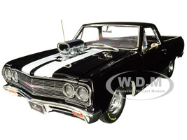 1965 Chevrolet El Camino Drag Outlaw Black White Stripes Limited Edition 564 pieces Worldwide 1/18 Diecast Model Car Acme A1805409