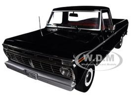 1973 Ford F-100 Custom Pickup Truck Black 1/18 Diecast Model Car Greenlight 12963