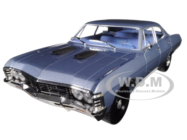 1967 Chevrolet Impala Sedan Steel Blue The A-Team 1983 1987 TV Series 1/18 Diecast Model Car Greenlight 19047