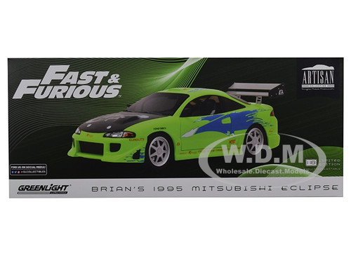 1995 MITSUBISHI ECLIPSE FAST /& FURIOUS 2001 1//18 DIECAST CAR BY GREENLIGHT 19039